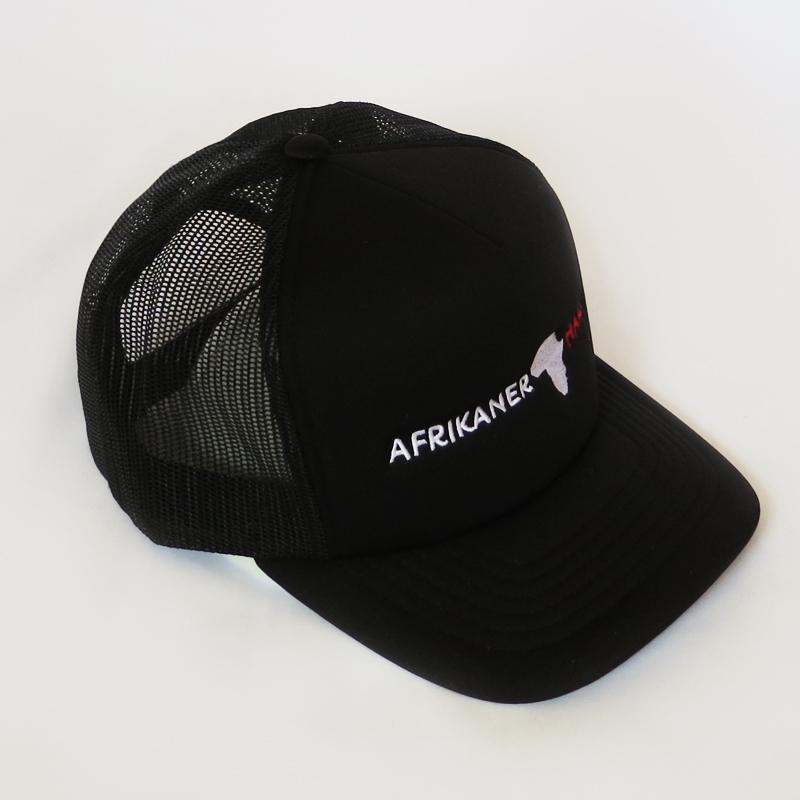 Black Trucker Cap Middle AfrikanerHart Side